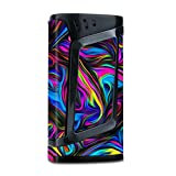 Skin Decal Vinyl Wrap for Smok Alien 220w TC Vape Mod Stickers Skins Cover/Neon Color Swirl Glass