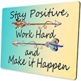 Shalysong Computer Mouse Pad Custom,Stay Positive Work Hard and Make It Happen Motivational Sign Inspirational Quote Mouse Pad Motivational Quotes for Work