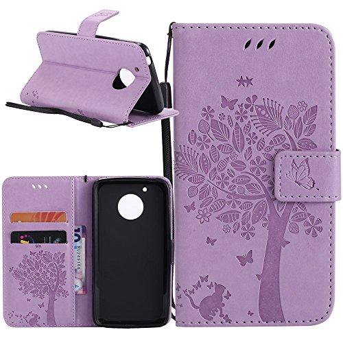 Funda Moto G5, Cmid PU Cuero Libro Billetera Tapa Antigolpes Protective [Ranura para tarjetas][Cierre magnético][Función de Soporte] Cartera Carcasa Case para Motorola Moto G5 5.0