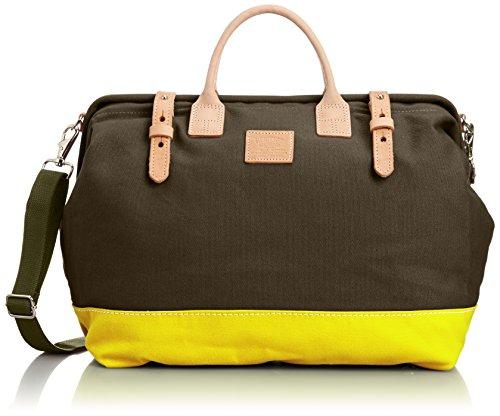 [ヘリテージレザー] Mason Bag Canvas/Canvas w/shoulder Strap 7725ST Olive/Yellow