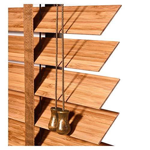 Bambus Jalousien Schlafzimmer Wohnzimmer Studie Wasserdichte Massivholz Jalousien Schattierung 2 Farbe Multi-Size Custom Schatten (Farbe : A, größe : 100x180cm)