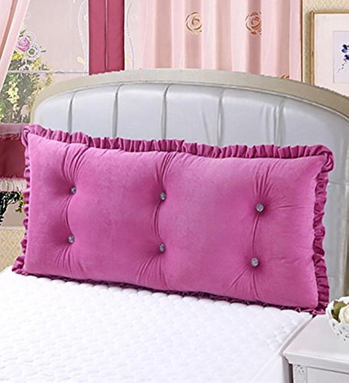 目的大事にする商標CONCEN 大型コットンマットレスダブルベッドバックピローベッドヘッドベッドクッション (Color : Pink, Size : 1.2m)