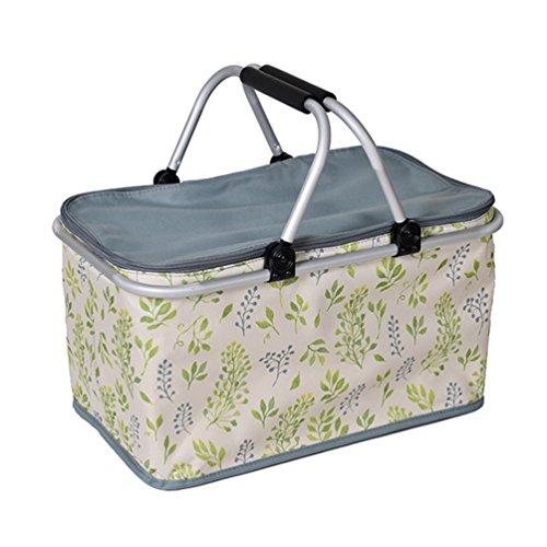 Dexinx Weich Kühlung Kasten Faltbarer Lunchbox Robust Picknick-Box Im Freien 48 * 28 * 24cm