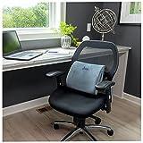Lumbar Support Pillow for Chair – Adjustable Memory Foam Pillow Car Seat Cushion – Self Molding Office Chair Cushion – Machine Washable Seat Cushion Cover by Desk Jockey