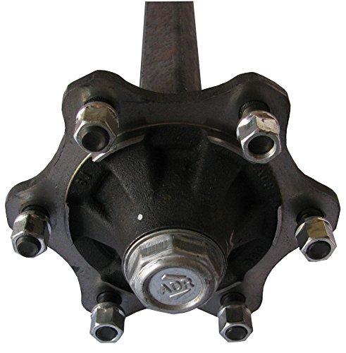 Granit Achsstummel 6X M18 Vierkant 50mm von ADR mit 6-Loch Radnabe ideal geeignet zum Selbstbau von Anhängern oder Ähnlichem.