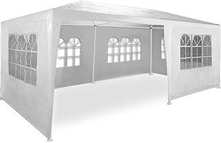 Kingsleeve Festzelt Rimini 3x6m Weiß UV-Schutz 18qm 6 Seitenteile Fenster..