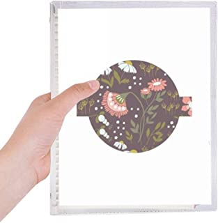 Brown Flowers Plant Paint Notebook Loose Leaf Diary Refillable Journal Stationery