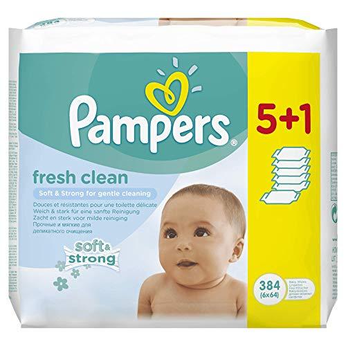 Pampers Fresh Clean Feuchttücher, 12 Packungen 2x384 Feuchttücher
