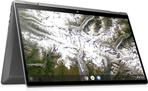 HP Chromebook x360 Laptop, 14 Inch Full HD IPS Scherm, Core i3-10110U, 4GB RAM, 64GB eMMC, Chrome OS, 14c-ca0001nd, Zilver