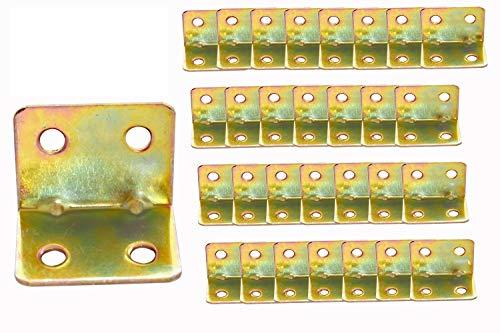50Pcs Small Corner Braces Joist Hangers 0.8x0.8x1.2inch, 90 Degree Angle Bracket, Metal Shelf Support Brackets for Chair Shelves Wood Furniture, Fastener Hardware Brackets