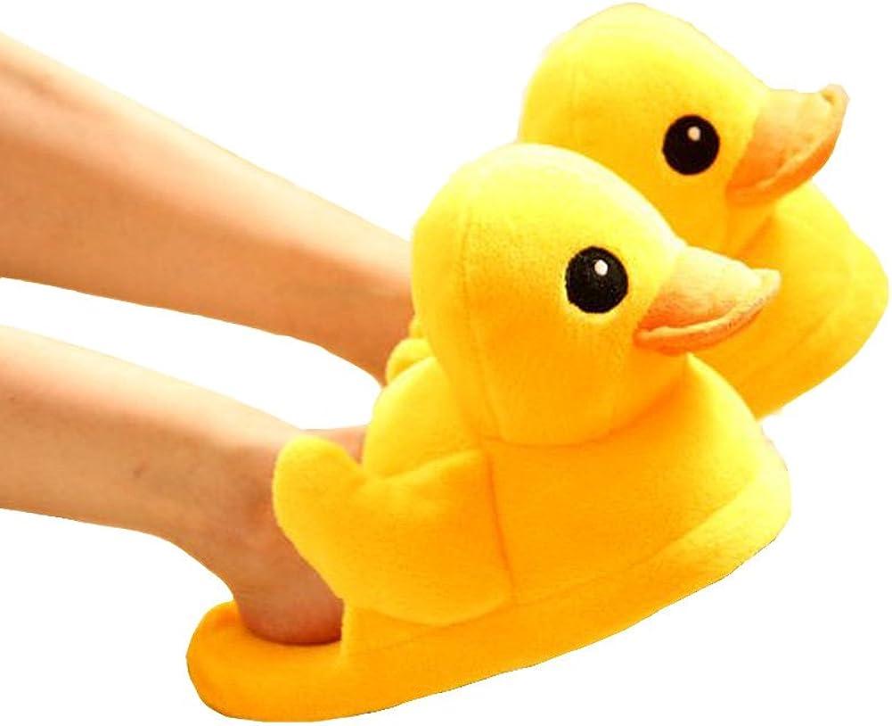 Cute Rubber Duck Winter Warm Slippers Plush Slippers