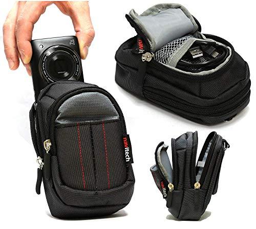 Navitech - Estuche Negro para Cámara - Compatible con la Panasonic LUMIX DC-FT7 Camera