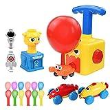 Faraone4w Enfants Inertia Ballon Voiture Jouet,Power Voiture de Lancement propulsée par Ballon avec 12 Ballons Educational Science DIY Toy pour Les Enfants Cadeaux Jeux Enfants Garçons Filles