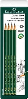 Lápis Grafite Técnico 6B Sextavado, Faber-Castell, SM/C90006B, Ecolápis, Linha Castell 9000, 4 Unidades