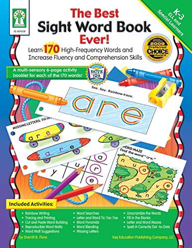 Best Sight Word Book Ever!, Grades K - 3: Learn 170 High-Frequency Words and Increase Fluency and Comprehension Skills