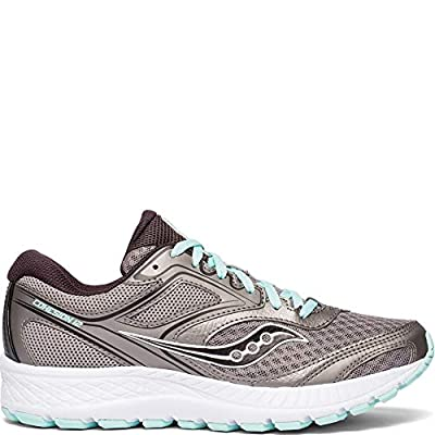 Saucony Women's VERSAFOAM Cohesion 12 Road Running Shoe, Grey/Teal, 9.5 M US