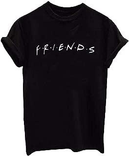 Beloved Women Crew Neck Casual Short Sleeve Summer Letter Print Top Blouse T Shirt 3 Smalll