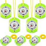 Best Hiking Compasses - Gejoy 8 Pieces Boy Scout Compass Map Reading Review