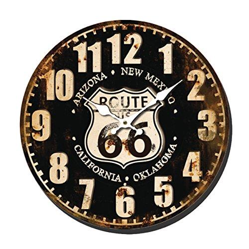 Balance Horloge Murale Retro Decor Route 66 Metal Vieilli 40CM