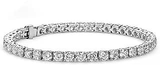 ROBERT MATTHEW Grace 18k Tennis Bracelet, Women's 18k Gold Plated Tennis Bracelet Cubic Zirconia Crystals, 7.5
