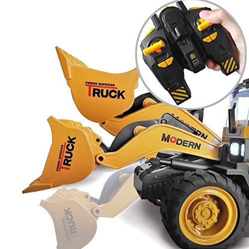 RC Auto kaufen Spielzeug Bild 4: 332PageAnn Rc Bagger Spielzeugauto Radlader Baufahrzeuge, 6 Kanal Simulationsfahrzeug Geburtstagsgeschenk Für Kinder*