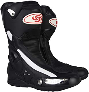 MAKAFJ Herren Motorradstiefel Motocross Schuhe Biker Racing Stylist Kurze Stiefelette Motorrad Track Touring Schuhe wasserdichte gepanzerte Enduro Stiefel