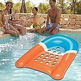 xluckx Aufblasbare Schwimmende Reihe, Schwimmbadliege, Wasserliege Pool Schwimmbett Party Spielzeug,...