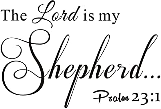 Everysticker4u The Lord is My Shepherd Psalm 23:1 Home Family Living Room Vinyl Quote Saying Wall Sticker Scripture Religious Bible Decals Transfer Removable Words Lettering (Size2: 33.4