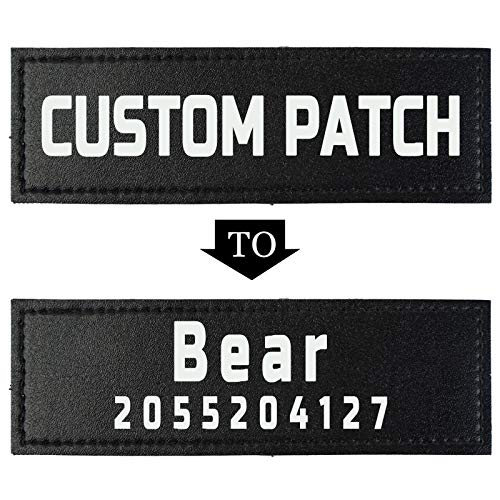 Custom Fluorescent Name Personalized Dog Vest Patches, 2 PCS Removable Patches for Dog Harness –Tactical Dog Harness Patches