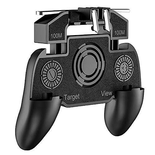 Tuneway K20 Todo en 1 Gamepad MóVil para Controlador Pubg Free Fire L1 R1 Trigger para Pubg Palanca de Mando con Ventilador de RefrigeracióN Accesorios de Juegos