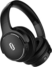 TaoTronics Active Noise Cancelling Bluetooth Headphones HiFi Stereo Wireless Over Ear Deep Bass Headset w/CVC Noise Canceling Microphone 30 Hour Playtime-Blue