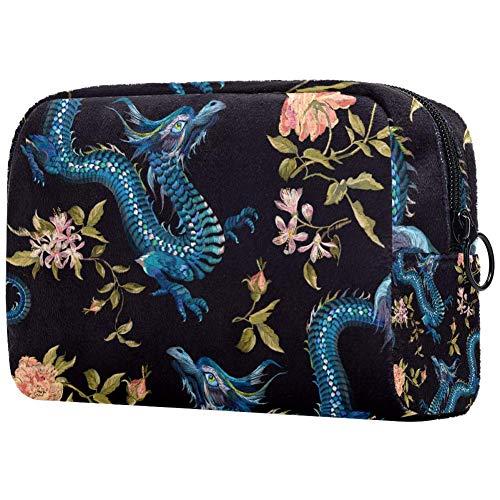 Bolsa de maquillaje personalizada para brochas de maquillaje, bolsas de aseo portátiles para...