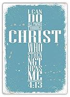 キリストを通してティンサイン壁鉄絵レトロプラークヴィンテージメタルシート装飾ポスターおかしいポスター吊り工芸用バーガレージカフェホーム