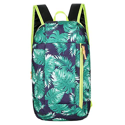 Sport-Rucksack mit Blumenmuster, wasserdicht, für Damen, Sommer, Reiserucksack, leichter Reitrucksack, grün, One size