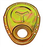 Milodon 65555 Gold Zinc Plated Reinforced Timing Cover for Small Block Chevy