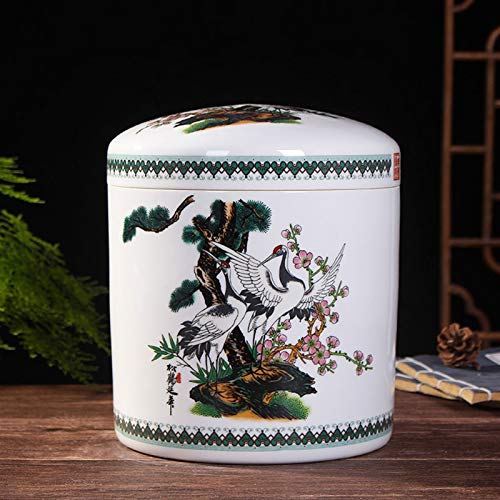 ZXJTX Memorial Box for Ashes Ceramic Ashes Canned Ashes Box Bone Picking and Moving Grave Funeral Home Supplies Pet Animal Ashes Altar Coffin Life Box Cremation Urn (Color : A)