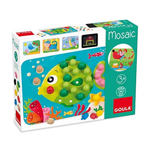 Goula- Mosaico Juego para Niños, Multicolor, 24 x 18 x 5 cm...