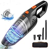 KLYDZ Handheld Vacuum Cleaner Cordless, 7000PA Portable Mini USB Rechargeable Quick Charge Vacuum for Pet Hair, Home and Car Cleaning, Washable Filter and Dry & Wet Use