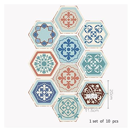 SHUILIANDU Baño Impermeable Pegatinas de Piso, Peel Stick Agustivo Azulejos Agustivo, Cocina Sala de Estar Decoración No resbalón Piso Calcomanía (Color : DB058, Size : 10 Pieces)