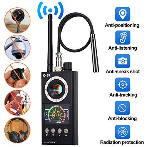 NOEzyf Super Anti-Spy Rilevatore di Segnale RF Bug GPS Camera Set Wireless Sensibilità Dispositivo gsm Finder, RF Microspia Telecamera Wireless Rilevatore di Frequenza gsm CDMA 2020 K68 Tracker