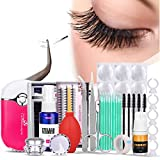 Eyelash Extension Kit, Mysweety Professional 16pcs False Eyelashes Extension Practice Exercise Set False Lashes Tool With Eyelash Glue for Makeup Practice Eye Lashes Graft Training