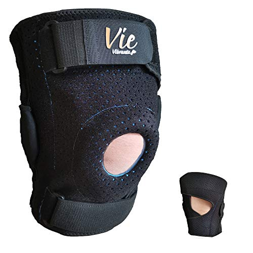 Plus Size Knee Brace Exclusive- Hinged Side Closing Design for Fast Wearing. Designed for Plus Size Men and Women, Provides Great Stabilization, Support, Non Slip & Non Bulky - Vievibrante 2