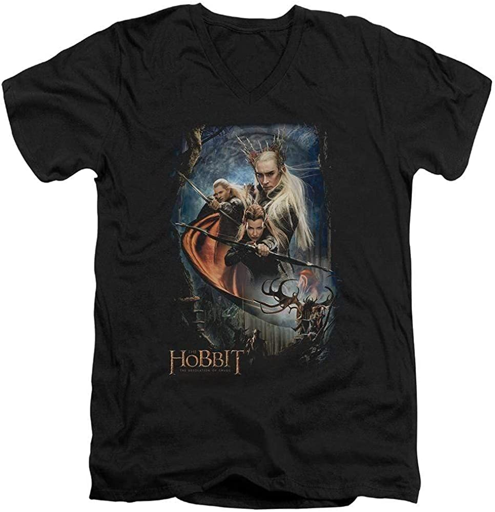 Sons of Gotham Hobbit - Thranduil's Realm Adult V-Neck T-Shirt