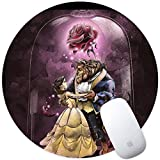 DISNEY COLLECTION Mouse Pad Round Mouse Pad Beauty and The Beast Team