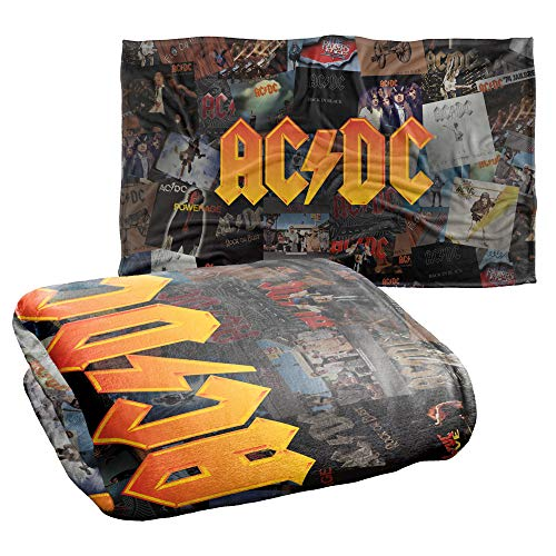 Trevco ACDC Albums Silky Touch Super Soft Throw Blanket 36' x 58'