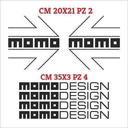 Sticker Mimo Adesivi Momo Design Decalcomania Compatibile, Accessori Moto caschi Jet integrati