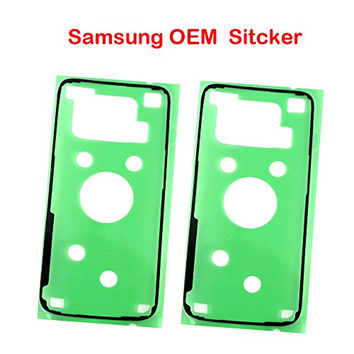 2 Pack Samsung OEM Original Back Rear Cover Battery Cover Sticker Adhesive Glue Tape for Samsung Galaxy S7 Edge G935(All Carriers)