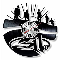 NiceIdeas4Home Band 311 Wall Clock Made from Vintage Vinyl Record Wonderful Handmade Gift for Your Loved one