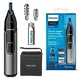 Philips - Recortadora para pelo para nariz, serie 3000 para nariz, oído y cejas, impermeable con sistema de protección, funciona con pilas, sin tirones, NT3650/16