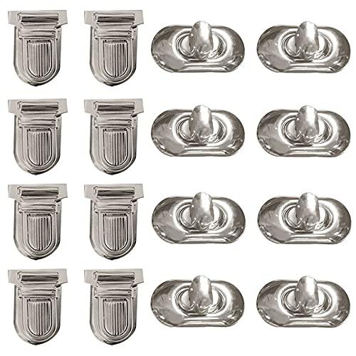 Trsnzul 16 Piezas Twist Turn Lock Carteras Cierres Metálicos Bolso Cierres de Bloqueo Oro Accesorios de Bolsa 2 estilo para Bolso de Cuero Bolso Accesorio de Leathercraft Cierre de Metá